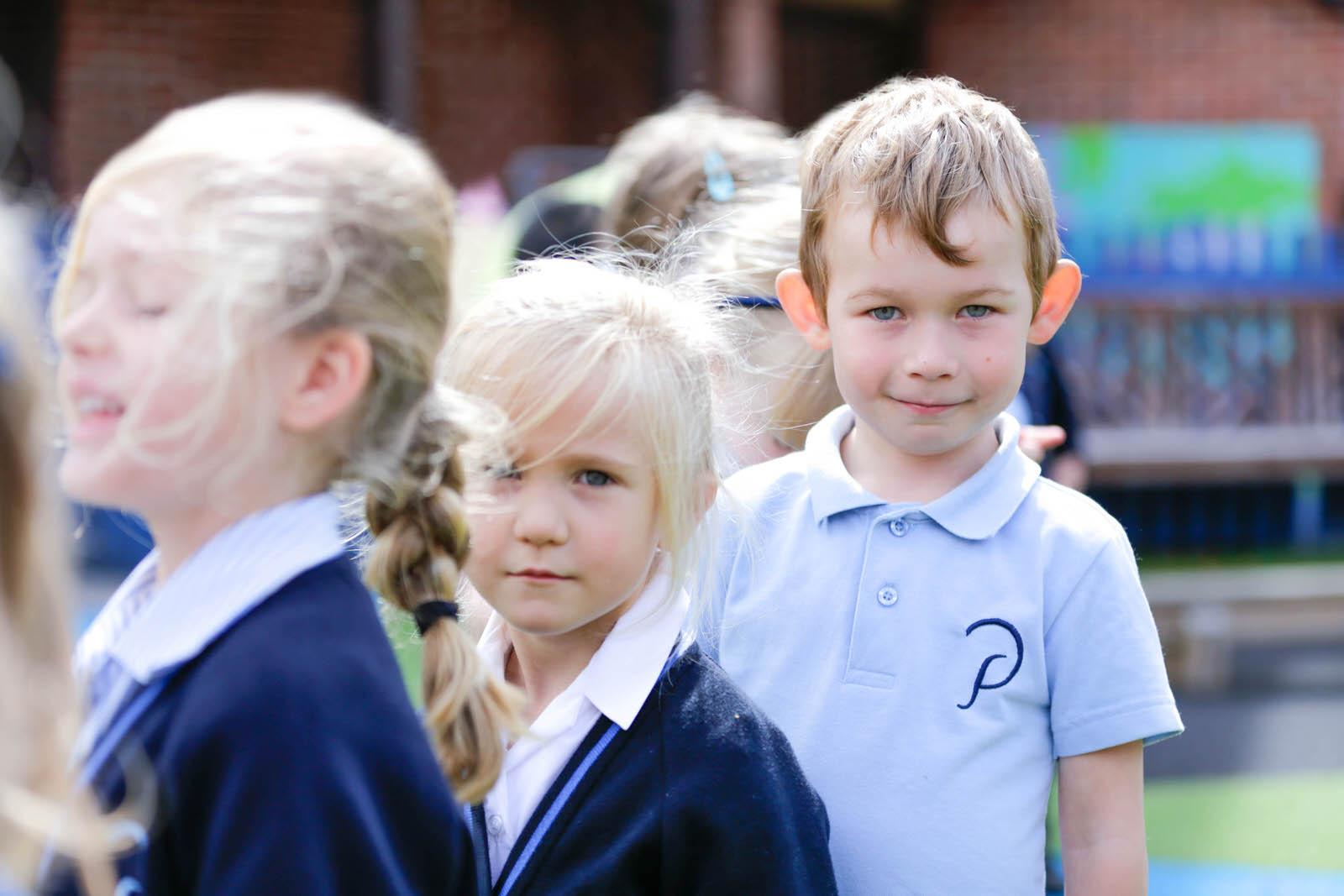 Pupils outside